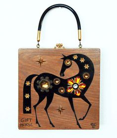 Enid Collins of Texas 1967 Gift Horse box bag by niwotARTgallery, $240.00