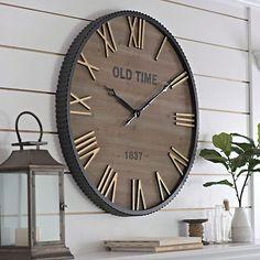 Drake Industrial Wall Clock   Kirklands