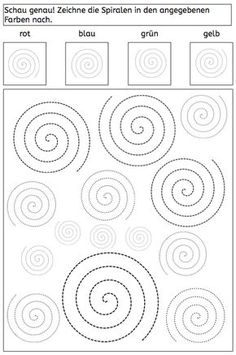 spiralen arbeitsblatt wahrnehmung legasthenie dyskalkulie eltern kinder lehrer. Black Bedroom Furniture Sets. Home Design Ideas