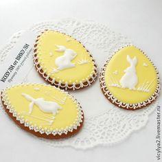 """Кулинарные сувениры ручной работы. Ярмарка Мастеров - ручная работа """"Vintage Easter. Rabbit"""" пряничные пасхальные яички. Handmade."""