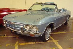 1965 Corvair convertible: My friend Vel says this was her car. I haven't found it in blue just yet. :>)   I can't believe how many people loved their Corvairs.