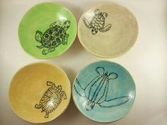 Turtle Bowl by elizabethpottery on Etsy, $26.00