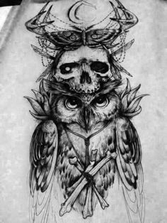 Black Owl Tattoo Designs and Ideas