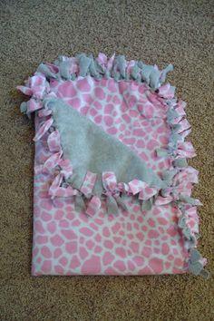 Blanket - no sew fleece CRAPTASTIC: Hi. My name is Katie. I'm a blanket-aholic.