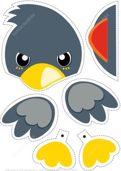 Paper Bird Toy to Cut Out and Play from Paper models category. Hundreds of free printable papercraft templates of origami, cut out paper dolls, stickers, collages, notes, handmade gift boxes with do-it-yourself instructions.