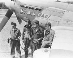WWII P-51 Mustang ace Captain Walter Starck 352nd FG - Stardust Studios