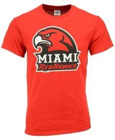 J America Men's Miami (Ohio) RedHawks Big Logo T-Shirt - Red L