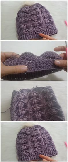 Crochet Beautiful Easy Beanie Hat - ilove-crochet Crochet beautiful and an easy beanie hat. This hat is very comfortable and useful for winter. Keep and feel your ears warn. Bonnet Crochet, Crochet Beanie Hat, Beanie Hats, Knitted Hats, Fedora Hat, Beanies, Crochet Simple, Free Crochet, Knit Crochet