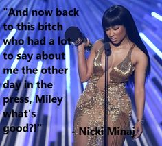 @NICKIMINAJ And Now Back To This Bitch. Miley what's good?! @MileyCyrus. Nicki, congratufukinglations. http://lybio.net/nicki-minaj-and-now-back-to-this-bitch-miley-cyrus/entertainment/