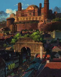 Tales From Eathsea. Directed by Gorō Miyazaki and produced by Studio Ghibli. Tales From Earthsea[DVD] Fantasy City, Fantasy Places, Fantasy World, Environment Concept, Environment Design, Hayao Miyazaki, Tales From Earthsea, Bg Design, Ghibli Movies
