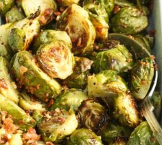 Brussels sprouts with bacon and pecans. A side for a Southern Thanksgiving?