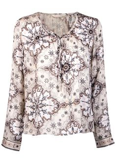 Odd Molly Bluse print - Afternoon Delight l/s Blouse 916M-743 golden porcelain – Acorns