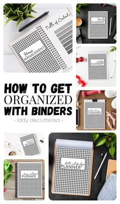 This 140+ page printable seven binder system is deisgned to help you truly organized every area of your life. These detailed organizing printables will help you stay on track with daily life, health & fitness, meal planning, bill & finances, home management, important record keeping, and even holiday planning! #ladydecluttered #getorganizedwithbinders #binderorganizion #homemanagement #lifeorganization