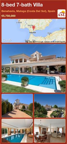 Villa for Sale in Benahavis, Malaga (Costa Del Sol), Spain with 8 bedrooms, 7 bathrooms - A Spanish Life Malaga, Outside Pool, Puerto Banus, Bbq Area, Underfloor Heating, Maine House, Terrace, Entrance, Villa