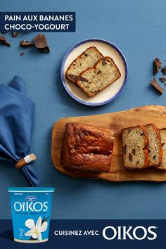 The perfect chocolate banana bread that's exceptionally soft and simply delicious. Easy to cook (and easier to eat) with Oikos vanilla Greek yogurt. Yogurt Banana Bread, Chocolate Banana Bread, Yogurt Recipes, Banana Bread Recipes, Ww Desserts, Dessert Recipes, Dinner Recipes, Healthy Sweets, Sweet Bread