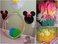 love the Minnie stands ~ you can make them with small and large paper plates