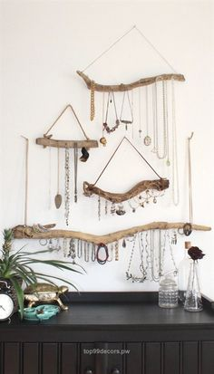 Check out this Driftwood Jewelry Display Wall Mounted Jewelry Organizer Necklace Hanger Jewelry Holder/Set or Single/bohemian decor boho decor organization  The post  Driftwood Jewelry Display Wall Mounted Jewelry Organizer Necklace Hanger Jewelry…  appeared first on  Home Decor  ..