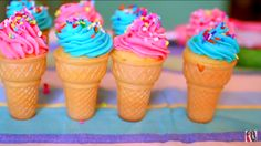 Niki and Gabi's Ice Cream Cone Cupcakes