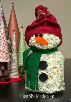 más y más manualidades: Ingeniosos regalos navideños con forma de muñeco de nieve