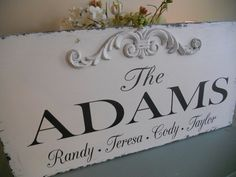 Personalized Family name sign established by 2chicsthatbelieve, $58.95