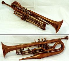 An extremely unusual example of an echo trumpet. Have never seen one before. Image found on the web.