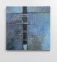 CONNY HENGERER-HENKEL '0047' acrylic on canvas + paper + stitching 80 x 80 cm #art #contemporary #modern #abstract #geometric