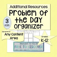 Problem of the Day Organizer