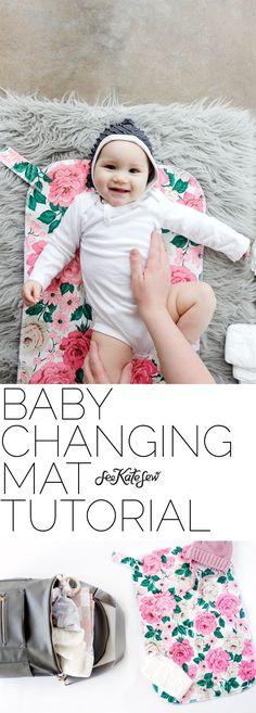 DIY Baby Changing Mat Tutorial   handmade baby changing mat   diy baby accessories   baby changing mat pattern   sewing tutorials   free sewing patterns    See Kate Sew #babychangingmat #diybaby #babyaccessories