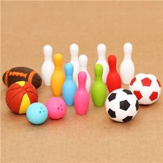 Sports Iwako erasers set 16 pieces from Japan