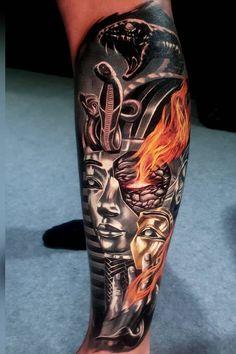 Horror tattoo ideas done by tattoo artsit Akbar Tawakkal Forarm Tattoos, Cool Forearm Tattoos, Badass Tattoos, Leg Tattoos, Body Art Tattoos, Sleeve Tattoos, Cool Tattoos, Celtic Tattoos For Men, Tattoos For Women Small