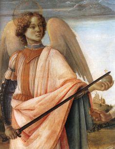 1482  Filippino Lippi  Les Trois Archanges, détail gauche