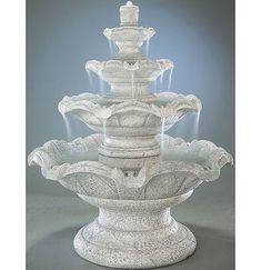 Henri Studio Tiered Concrete Quattro Classic Waterfall Fountain Finish: Relic Roho