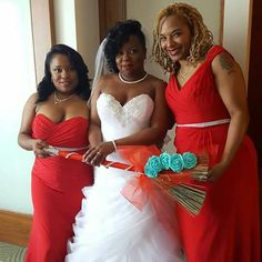 Tiffany Blue and Red Wedding Broom