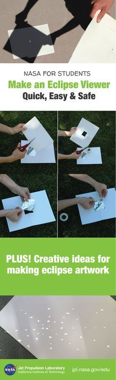 Make your own pinhole camera to safely view a solar eclipse in action! (NEVER look directly at the sun without proper solar filters!) Plus get ideas for turning these stellar events into an art project you can keep long after the eclipse is over.