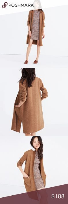 Madewell Camden Sweater Coat NWT Brown sweater coat from Madewell. These sold out quickly online. It's a bit lighter than I was looking for and needs a new home. Madewell Jackets & Coats