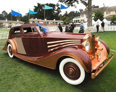 Classic Car: 1937 Rolls Royce Phantom III Freestone and Webb Sedanca. Rolls Royce Phantom, Ferrari F40, Lamborghini Gallardo, Maserati, Classy Cars, Sexy Cars, Bmw, Jaguar, Vintage Cars