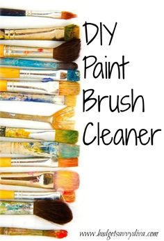 'How to Make Old Paintbrushes Like New...!' (via Budget Savvy Diva)