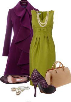 """Green & Purple"" by quianashinae on Polyvore"