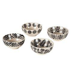 Schüssel Vauvert (4er Set)   Keramik   Schwarz / Weiß Jetzt Bestellen Unter