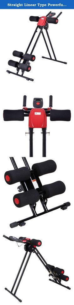 "Straight Linear Type Powerful Private Fitness Club Abdomen Exerciser Black & Red. ""Introductions: Modern people chase after health and beauty. That is why more and more people rush into fitness clubs. Why not buy this Straight Linear Type Powerful Private Fitness Club Abdomen Exerciser to have your private coach at home? It can be used for exercising abdomen, leg, arm and muscle on your body. Made with premium steel, foam and ABS materials, this device is in good condition and high…"