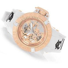 628-455 - Invicta Women's Subaqua Noma III Mechanical Skeletonized Dial Silicone Strap Watch