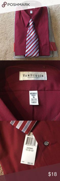 VanHeusen dress shirt and tie brand new Brand new size dress shirt and tie. Shirts Dress Shirts