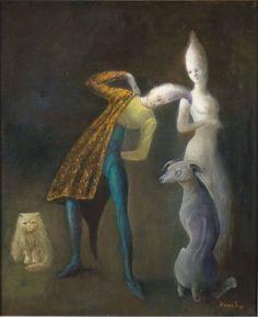 LEONOR FINI (1908-1996) Passengers Twilight, 1982
