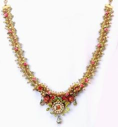 Setty Gallery - Michal Negrin Jewelry Red Pink Cristal Flowers Necklace, $447 (http://www.settygallery.com/michal-negrin/michal-negrin-jewelry-red-pink-cristal-flowers-necklace/)