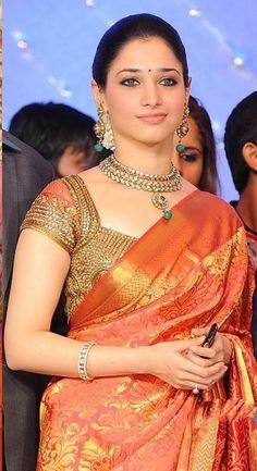 Tamanna in saree. Great look