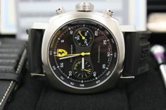 Hot #Panerai Ferrari Chronograph Ref F6656 Stainless Steel 45mm #Watches + B P from Ad