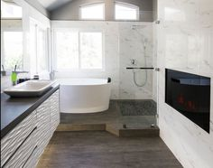 Small Bathroom Ideas With Tub And Shower 15 small bathrooms that are big on style | small bathroom, house