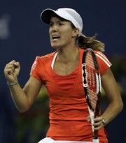 Justine Henin - my favourite female tennis player :-)   Short tennis chicks rock hard!