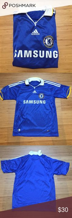 Chelsea FC jersey Authentic Chelsea FC jersey. Perfect condition! Marked as XL but fits like a women's medium. Adidas Other