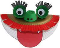 dragon puppet-link to paper plate crafts